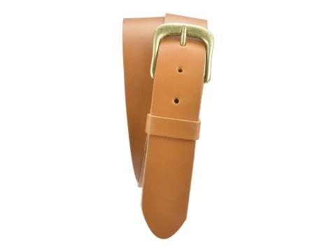 BULLJEANS N°12 | Ceinturon Homme couleur camel boucle arrondie fine finition laiton 4