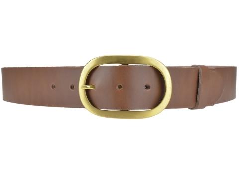 BULLJEANS N°14 | Ceinturon cuir couleur chataigne Homme boucle ovale en laiton 4
