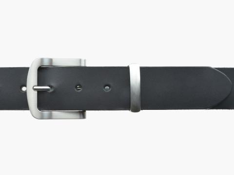 BULLJEANS N°15 | Ceinturon police style en cuir noir boucle brossée 2