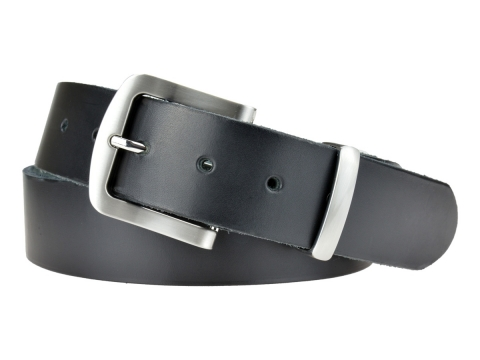BULLJEANS N°15 | Ceinturon police style en cuir noir boucle brossée 6
