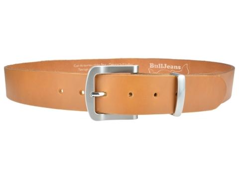 BULLJEANS N°15 | Ceinturon police style en cuir couleur camel boucle brossée 2