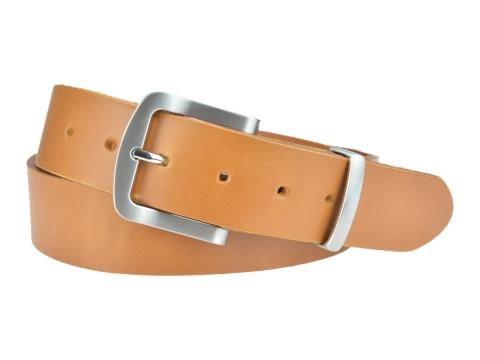 BULLJEANS N°15 | Ceinturon police style en cuir couleur camel boucle brossée 4