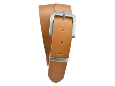 BULLJEANS N°15 | Ceinturon police style en cuir couleur camel boucle brossée 5