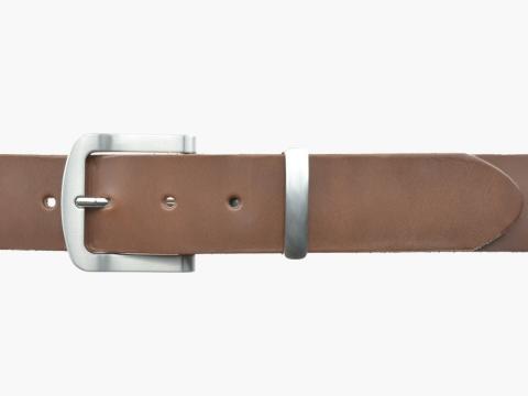 BULLJEANS N°15 | Ceinturon police style en cuir couleur chataigne boucle brossée 2