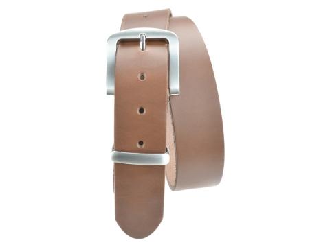 BULLJEANS N°15 | Ceinturon police style en cuir couleur chataigne boucle brossée 5
