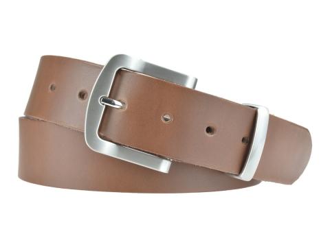 BULLJEANS N°15 | Ceinturon police style en cuir couleur chataigne boucle brossée 6