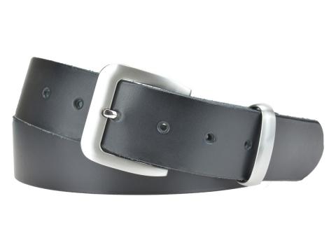 BULLJEANS N°16   Ceinturon en cuir de couleur noir boucle sobre finition metal brossé 2