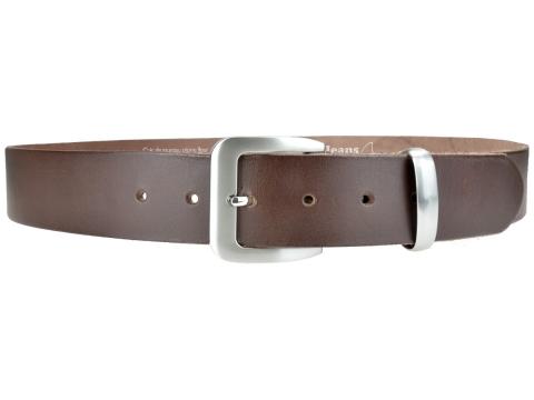 BULLJEANS N°16 | Ceinturon en cuir de couleur marron boucle sobre finition metal brossé 3