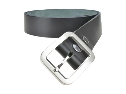 BULLJEANS N°18   Ceinturon cuir couleur noir boucle rectangle brossée 5