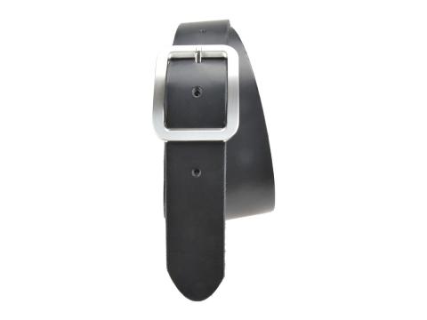 BULLJEANS N°18   Ceinturon cuir couleur noir boucle rectangle brossée 6