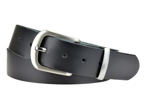 BULLJEANS N°21 | Ceinturon homme cuir couleur noir boucle polyvalente métal brossé 2