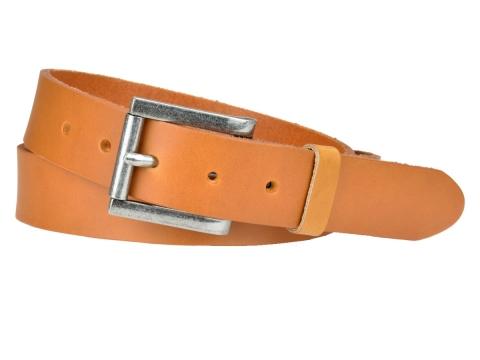 ceinture en cuir noire bulljeans round nickel