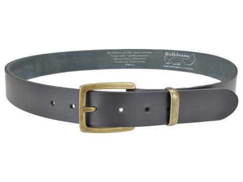 ceinture bull 3,5 cm boucle ronde brillante et passants double
