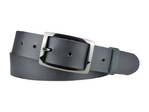 BULLJEANS35 N°6 | Ceinture noire boucle rectangle couleur canon de fusil   2