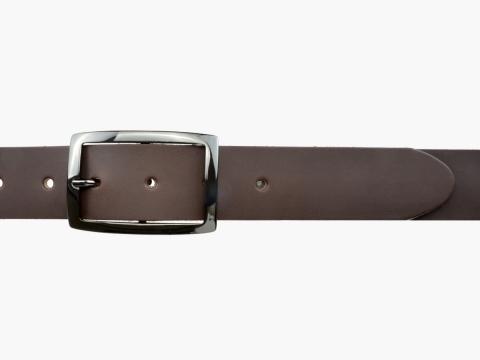 BULLJEANS35 N°6 | Ceinture marron boucle rectangle couleur canon de fusil  3