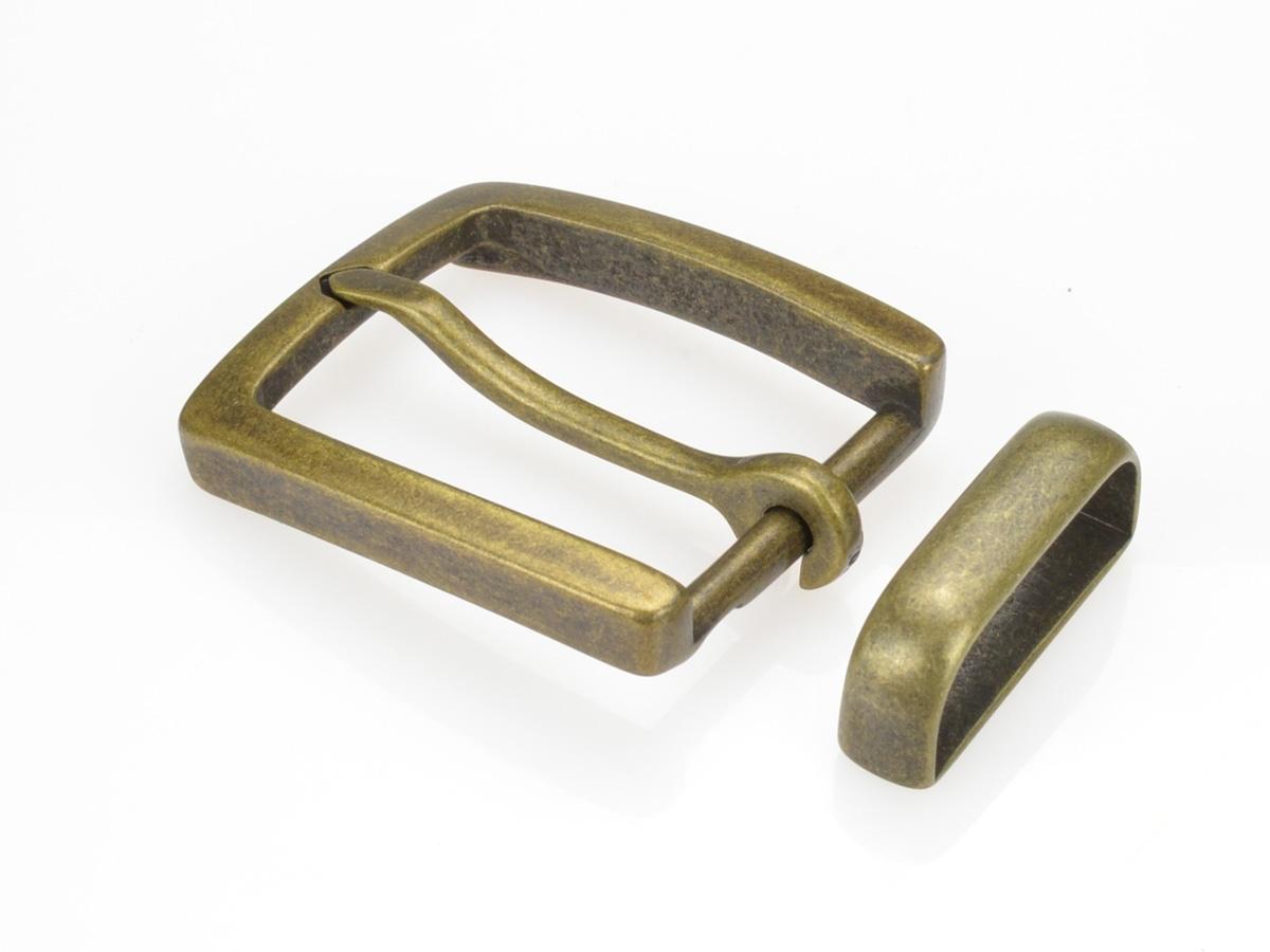 Boucle de ceinture 35 mm  N°1 Finition vieux laiton