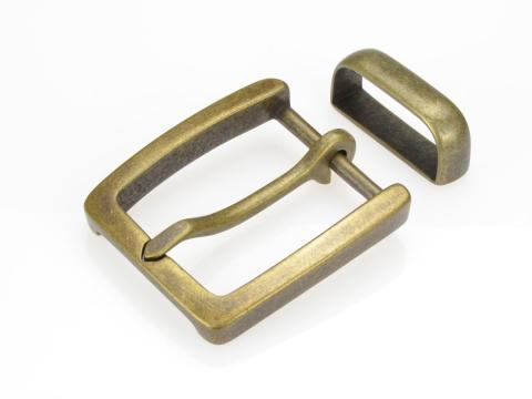 Boucle de ceinture 35 mm  N°1 Finition vieux laiton 1