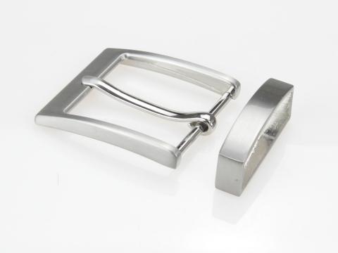 Boucle de ceinture 35 mm  N°4 plate Finition brossée 2