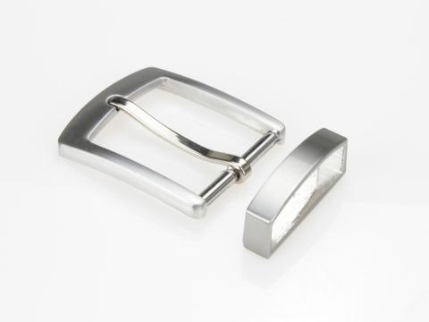 Boucle de ceinture 35 mm  N°3 carrée Finition brossée 2