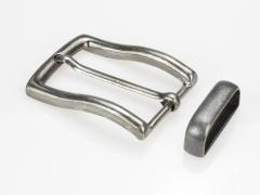 Boucle de ceinture 35 mm N°7 rectangle anthracite vieilli