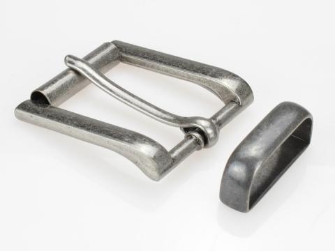 Boucle de ceinture 35 mm N°9 Rouleau anthracite vieilli