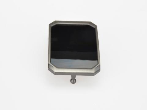 Boucle de ceinture 35 mm N°11 Plaque 2 finition brossée noire 2
