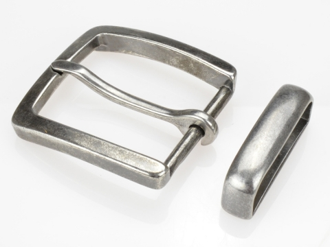 Boucle de ceinture 4 cm ovale finition vieux laiton