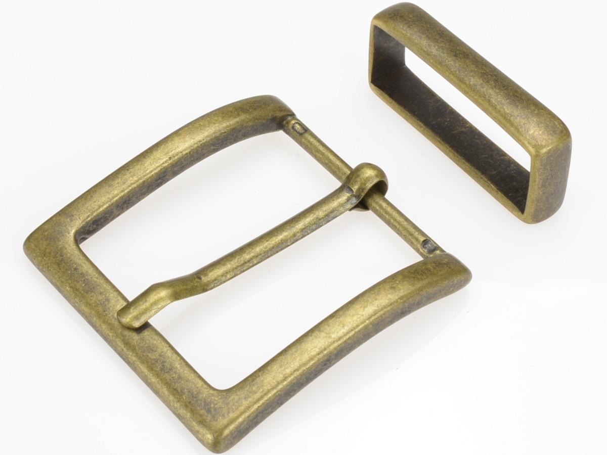 Boucle de ceinture 4 cm carré plate brillante