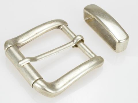 Boucle de ceinturons 40mm | N°5 Rouleau argent