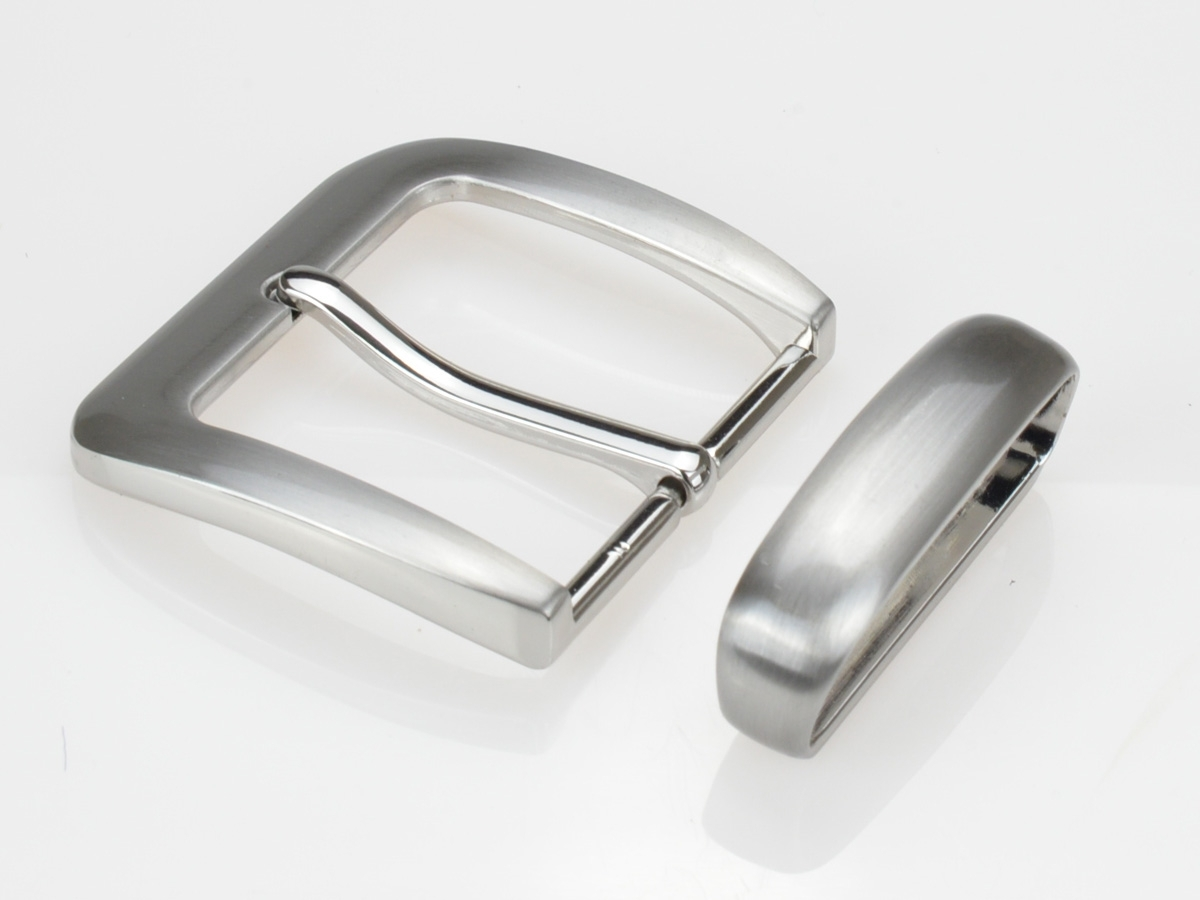Boucle de ceinture 4 cm bout ovale
