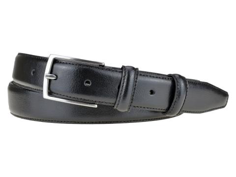 GAROT CLASSIQUE | N°1 Ceinture habillée noire piqûre sellier, indémodable