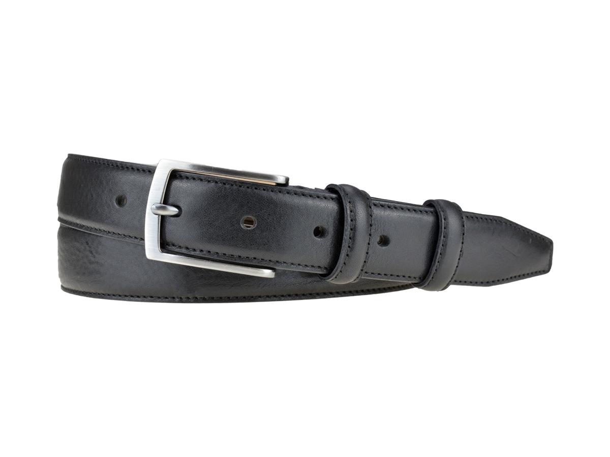 ceinture Bulljeans 35 Wellington pour homme en cuirnoir