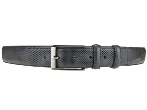GAROT CLASSIQUE 35MM | N°8 Ceinture noire cuir finition golf, chic et sport 3