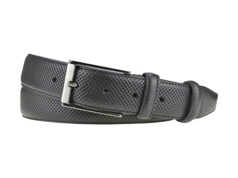 GAROT CLASSIQUE 35MM | N°8 Ceinture noire cuir finition golf, chic et sport 6