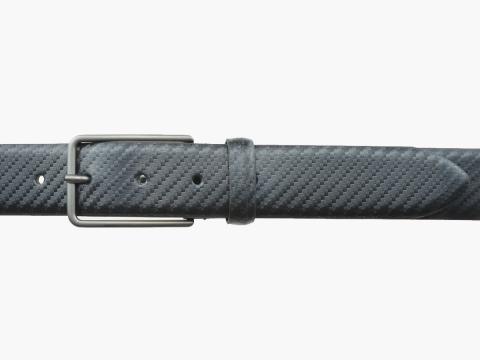 GAROT CLASSIQUE 35MM | N°9 Ceinture noire en cuir, moderne finition carbone 2