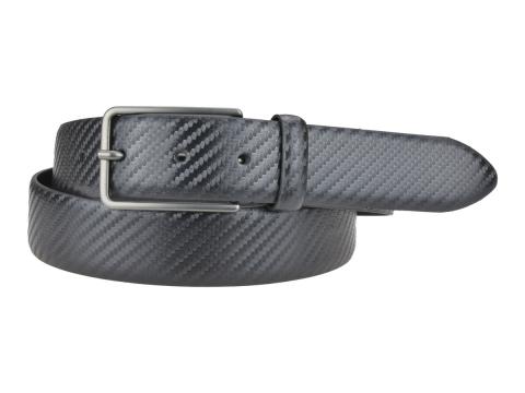 GAROT CLASSIQUE 35MM | N°9 Ceinture noire en cuir, moderne finition carbone 5