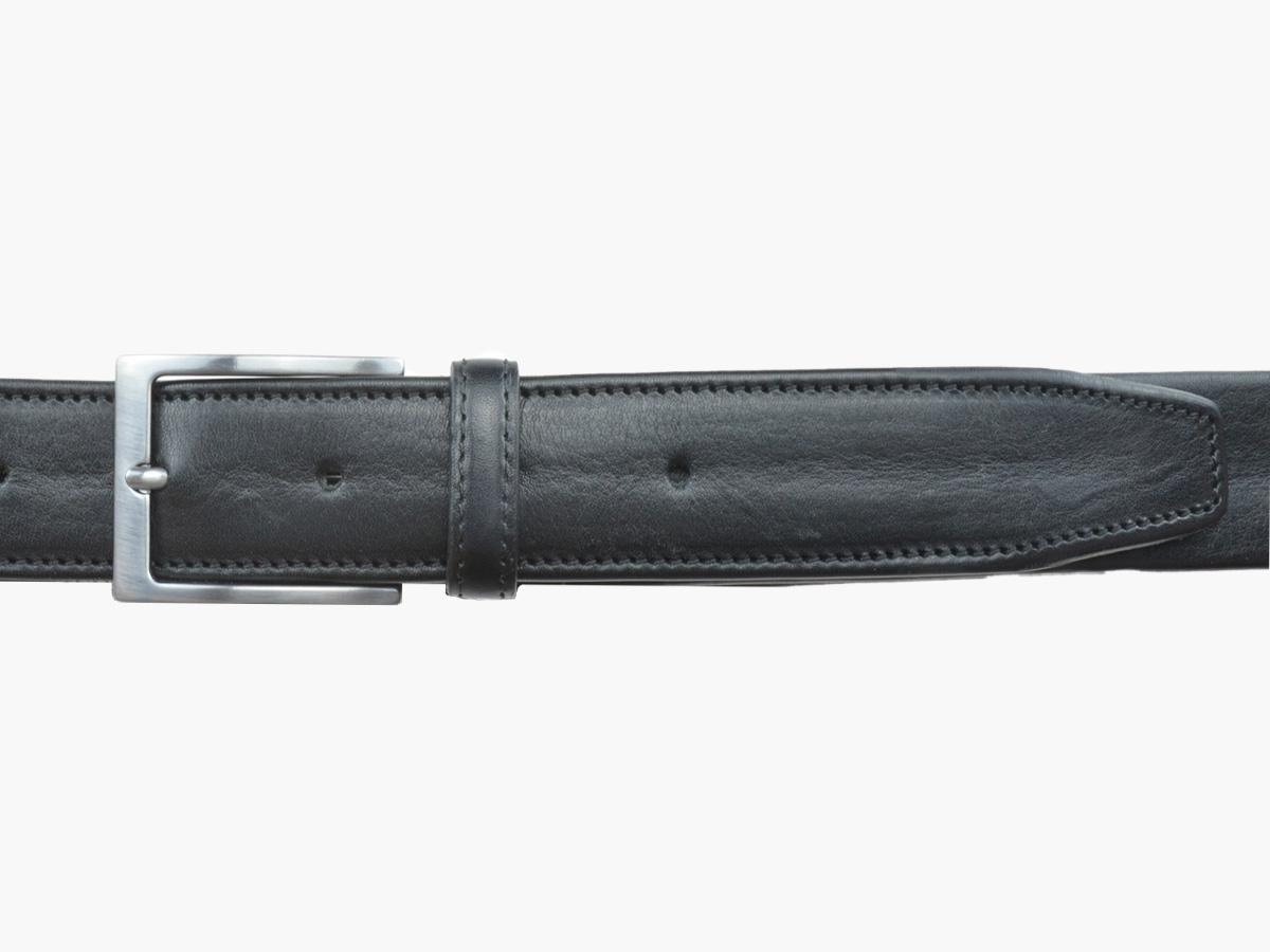 GAROT VOYAGE 35MM | N°9 Ceinture de voyage noire avec zip intérieur