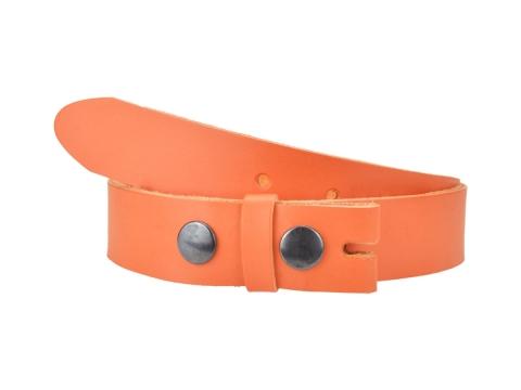 Ceinture sans boucle en cuir largeur 3 cm couleur orange 2