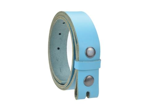 Ceinture sans boucle en cuir largeur 3 cm couleur turquoise 2