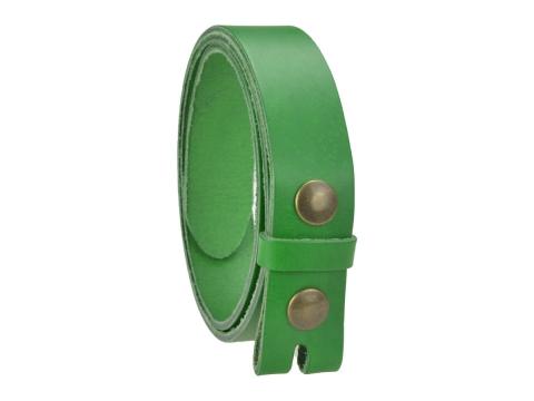 Ceinture sans boucle en cuir largeur 3 cm couleur vert ficus 2