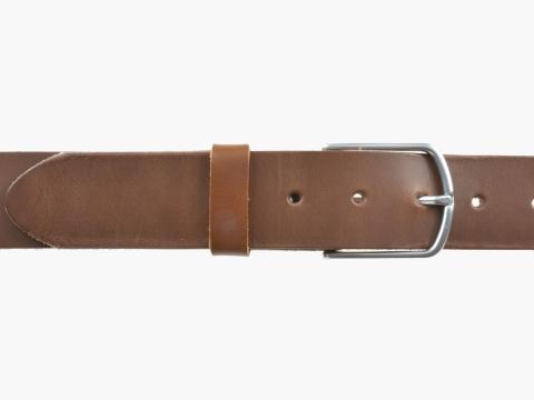BULLJEANS40 Femme | N°5 Superbe ceinture châtaigne jeans boucle ultra fine 2
