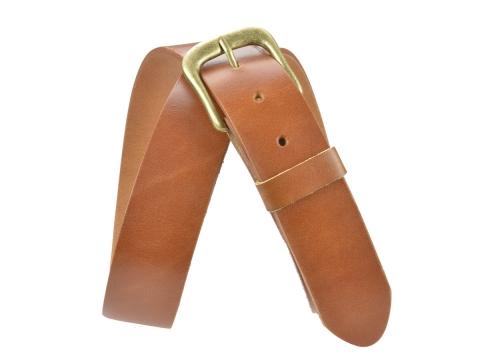 BULLJEANS40 Femme | N°7 Ceinture cognac jeans boucle laiton fer à cheval 4