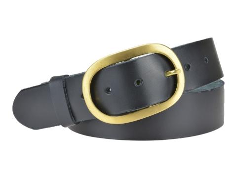 BULLJEANS40 Femme | N°9 Ceinture jeans couleur noire boucle ovale laiton massif 5