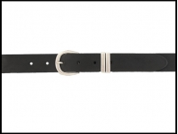 ceinture noire 3 cm boucle argent vieilli