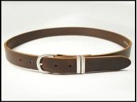 ceinture noire 3 cm marron