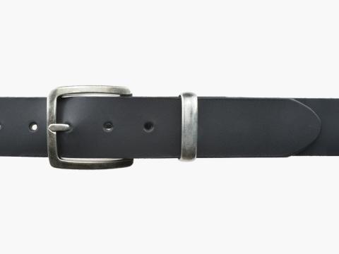 BULLJEANS N°01 | Ceinturon cuir couleur noir pour Homme boucle carré anthracite