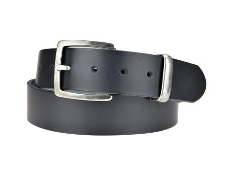 BULLJEANS N°01 | Ceinturon cuir couleur noir pour Homme boucle carré anthracite 4