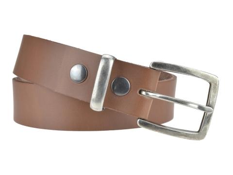 BULLJEANS N°01 | Ceinturon cuir couleur chataigne pour Homme boucle carré anthracite 3