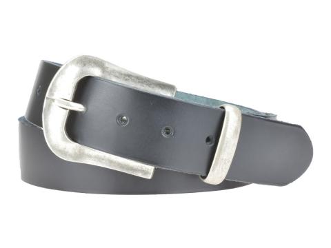 BULLJEANS N°05 | Ceinturon Western en cuir de couleur noir boucle finition argent 5