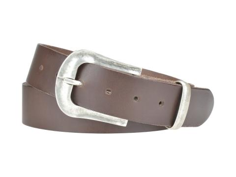 BULLJEANS N°05 | Ceinturon Western en cuir de couleur marron boucle finition argent 4